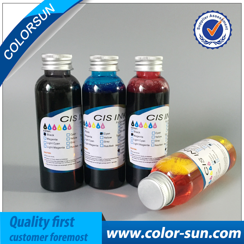 Safety 4*100ml universal Edible ink food ink for case candy chocolate coffee printer ink for cake edible ink high quality 4 colors cmyk edible ink for canon for epson desktop inkjet printer for cake chocolate coffee