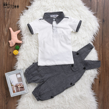 Romper + Polo Shirt Clothing Set