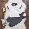 Ropa del bebé niños mono infantil del mono recién nacido del mameluco de manga corta polo camisa de algodón niños traje traje