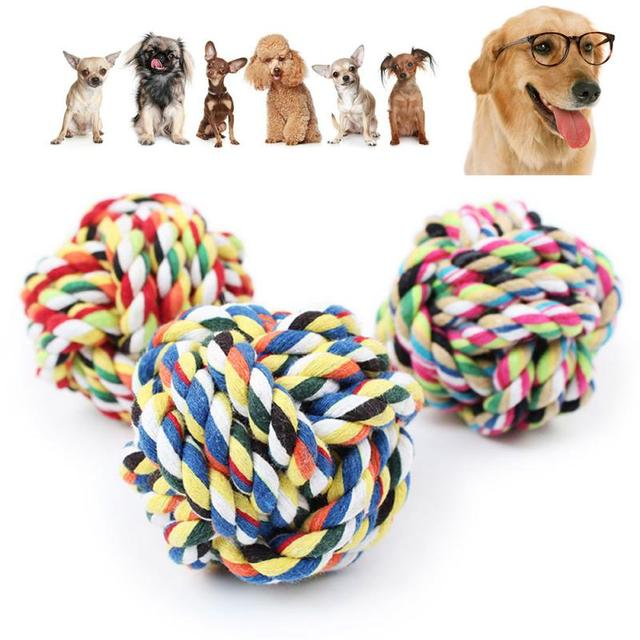 newest mascotas bite tetherball pet cotton rope toys dog clean teeth