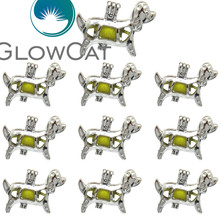 ФОТО 10x k583 puppy dog pearl cage jewelry making beads cage pendant essential oil diffuser aroma locket for oyster pearl
