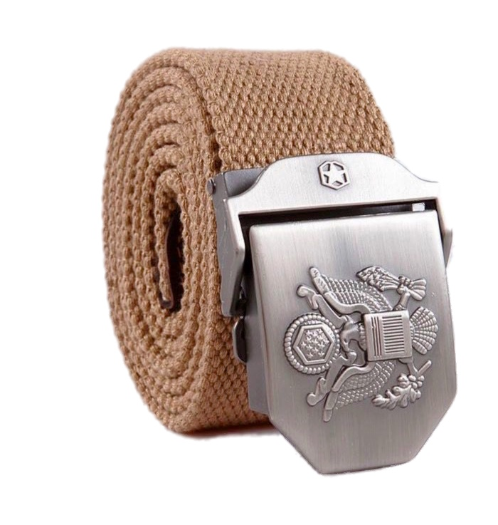 2019 Men's Belts Solid Adult New World Peace All-match Army Thickened Cool US Navy Seals Alloy Buckle Canvas Belt For Men