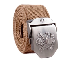 2019 Men's Belts Solid Adult New World Peace All-match Army Thickened Cool US Na
