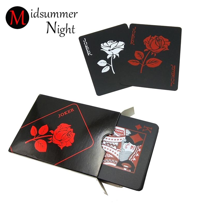 New design Rose poker black plastic plays