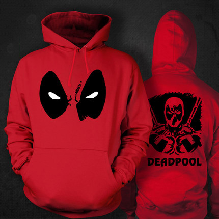 Custom Made Comic Marvel Deadpool Wade Winston Wilson Anme Cosplay Costume Fleece Hoodie Men Women Jacket monochrome