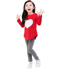 Minnie Mouse Rushed Children 's Clothing 2016 New Spring And Autumn Long – Sleeved Suits Set Love + Headband Three Piece Girls