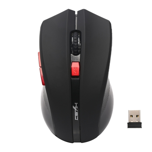 Portable Ergonomic Wireless Mouse 2.4 G Hz 6 Button 2400 Dpi Optical Mobile Mice With Usb Nano Receiver For Laptop Pc Computer by Weixinbuy