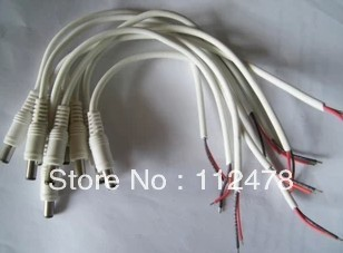 Free shipping 12V to 24V DC Power Cable 25CM Male Line 50pcs/lot