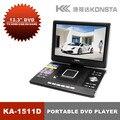 """Leadstar, 14 """"Портативный dvd-плеер с USB (поддержка 3D) Поддержка чтения карт и USB"""