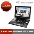 "Leadstar,14"" Portable DVD player  with USB  (support 3D)  Support card reader and USB"