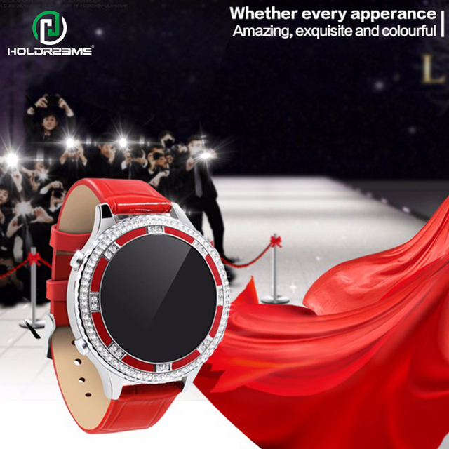 HOLDREAM UH6 Smart Band Ladies Health Care Smartwatch Women WristWatch Wearable Device Heart Rate fitness Bracelet for Phone iOS