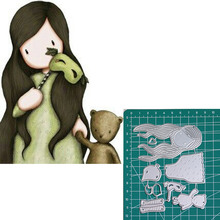 Mask bear new 2019metal cutting dies doll girls for scrapbooking and making paper cards
