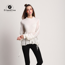 2017 Runway Women Sweaters Lartern Sleeve Sweaters White Sweater Loose