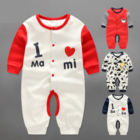 YiErYing Baby Clothes 2018 New 100 Cotton Long Sleeve Cartoon Printing Newborn Romper Baby Boy Girl