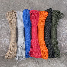 37pcs/lot Reflective Paracord 9 Strand 31M/100ft Parachute Lanyard Accessories For Outdoor Camping Equipment & Survival