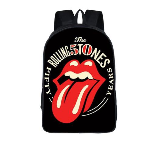 Rolling Stones/Pink Floyd Women Backpack School Boys Girls Hip Hop Bags Hot Rock Childre ...