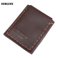 The Secret Life Of Walter Mitty Genuine Leather Wallet Men Vintage Handmade Natural Cowhide Leather Wallet