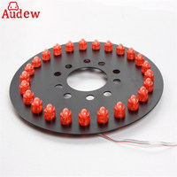 1Pcs Red Blue White Yellow Car Tail 3rd Brake Lights Spare Tire Wheel Lights For Jeep