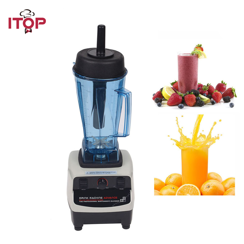 ITOP Heavy Duty Smoothies Blender Machine Ice Crusher Professional Commercial Food Mixer Fruit Juicer Electric Kitchen Tools цена