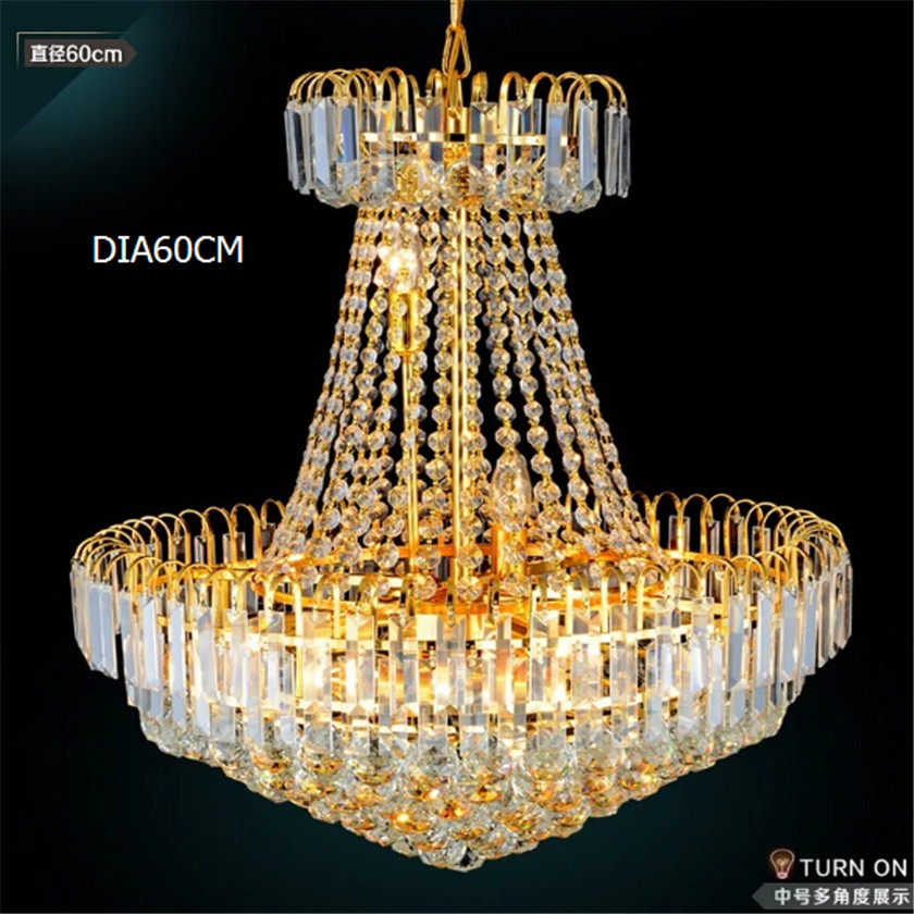 Luxury golden crystal pendant light surface mounted round crystal for Living Dining Room Bedroom Europe Luxury Hanging La modern crystal chandelier hanging lighting birdcage chandeliers light for living room bedroom dining room restaurant decoration