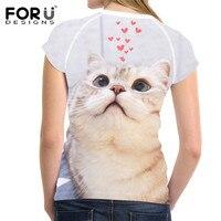 FORUDESIGNS-Kawaii-Ragdoll-Cat-Print-Casual-Women-T-Shirts-Summer-Breathable-Tops-Clothing-Novelty-Bodybuilding-Tee-Shirts-Lady-3