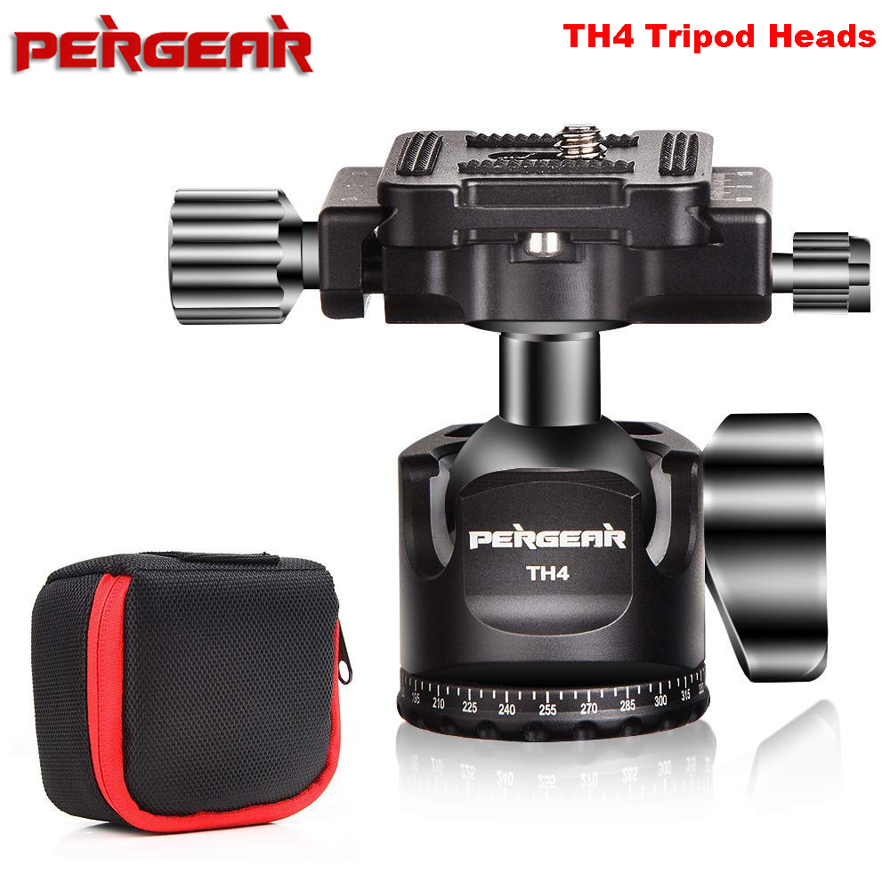 PERGEAR TH4 Tripod Mini Ball Head Aluminum Alloy Construction Weights 190g Maxload 10KG Panoramic Shooting w/Quick Release Plate osc 5032 5 3 2mm 4p 62 5m 62 5mhz 62 500mhz