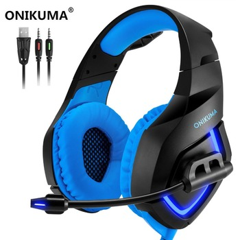 New Super LED Backlight Gaming Headphones Deep Bass Comfortable Computer Game Headset+6 Buttons 5000DPI Pro Gaming Mouse Gift เมาส์
