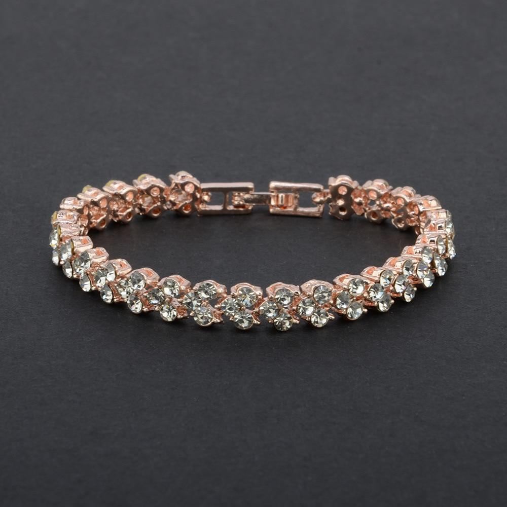 4383774841_873398036 - DIEZI Exquis Luxe, Bracelet En Cristal Romain, Rose Or Argent Couleur ,