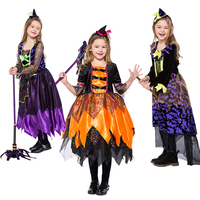 3 Styles Girls Fashion Clothes Moon And Star Colorful Midnight Witch Cosplay Costume Design For Restival