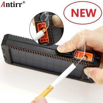 15000 mah 太陽光発電銀行ポータブル外部バッテリーソーラー Powerbank 充電器電気タバコ用ライタースマート電話