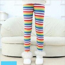 VEENIBEAR/ бархатные теплые леггинсы для девочек зимние штаны для девочек с радужным принтом детские штаны Одежда для маленьких девочек От 3 до 9 лет