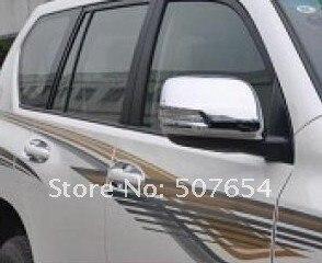ที่สูงขึ้นดาว2ชิ้นรถประตูด้านข้างกระจกตกแต่งฝาครอบฝาครอบสำหรับโตโยต้าพราโด้(Land Cruiser) FJ150 2010