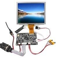8 인치 EJ080NA-05B 800x600 lcd 스크린이있는 vga 2av 반전 lcd 컨트롤러 보드