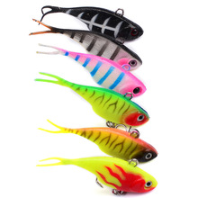 6pcs/lot Artificial Trolling Fishing Lures Wobbler Baits With 6# Hook 68mm/9g VIB Crankbait Sinking Sea Fishing Jerkbait Pesca 7pcs lot minnow fishing lures plastic hard bait 6 hook trolling wobbler 80mm 8 6g crankbait artificial bionic jerkbait pesca