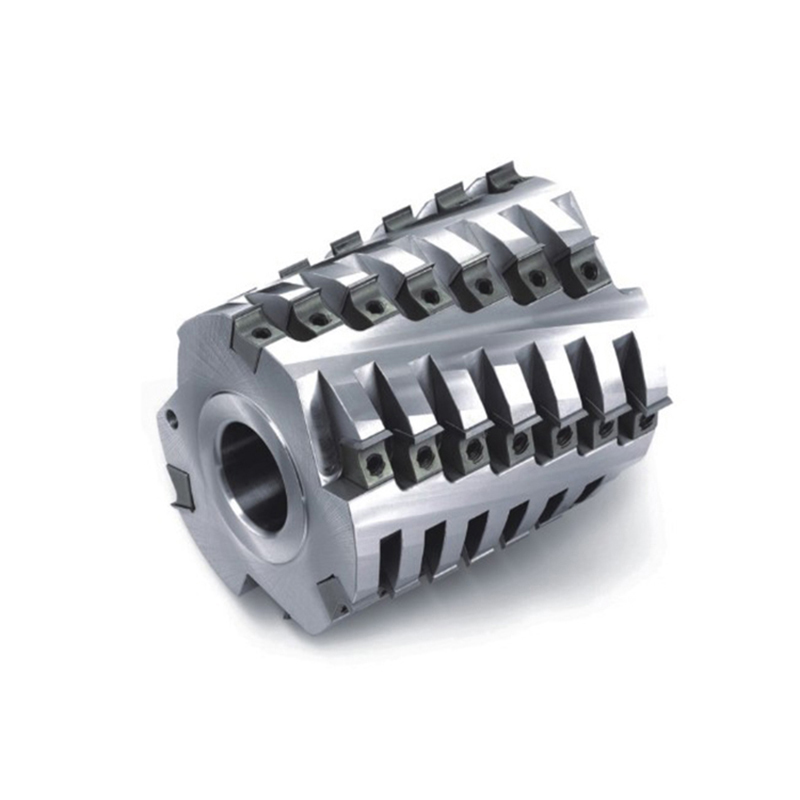 Screw cutter head Sprial Planing Cutter Head Helical Cutter for Spindle Machine 4 side Moulder 6T T.C.T knife bit size