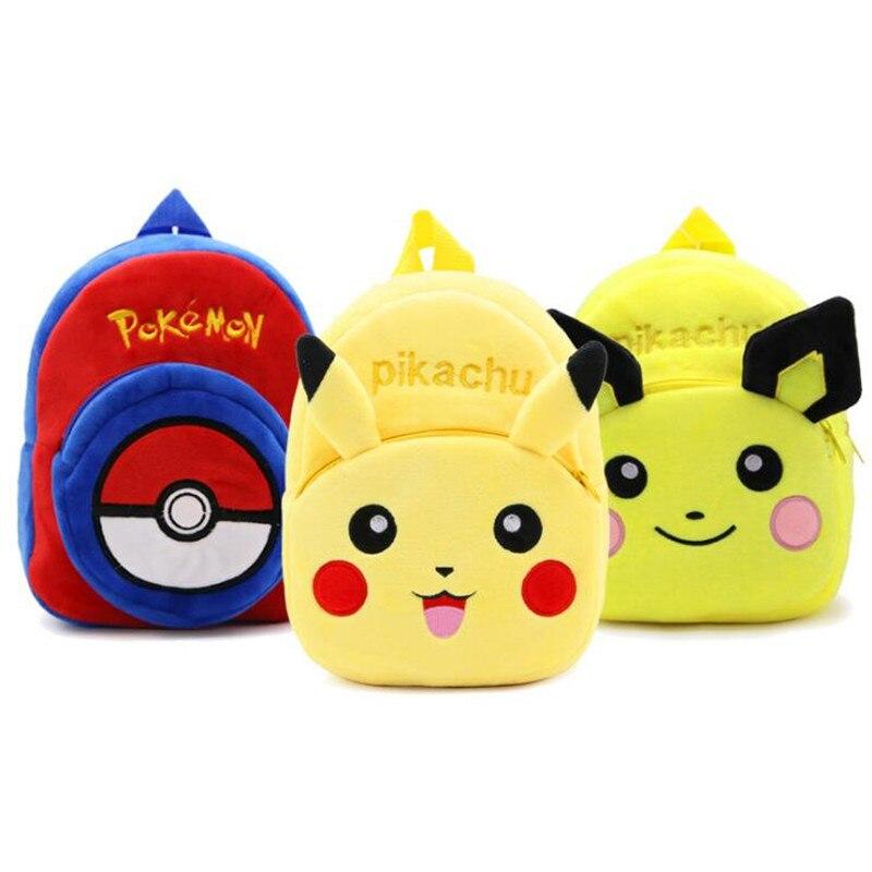Pikachu Plush Backpacks Children Infant Mochila 3D Kids School Bags Cartoon Plush Backpacks Mini Preschool Bag Gift For 1-3 Year