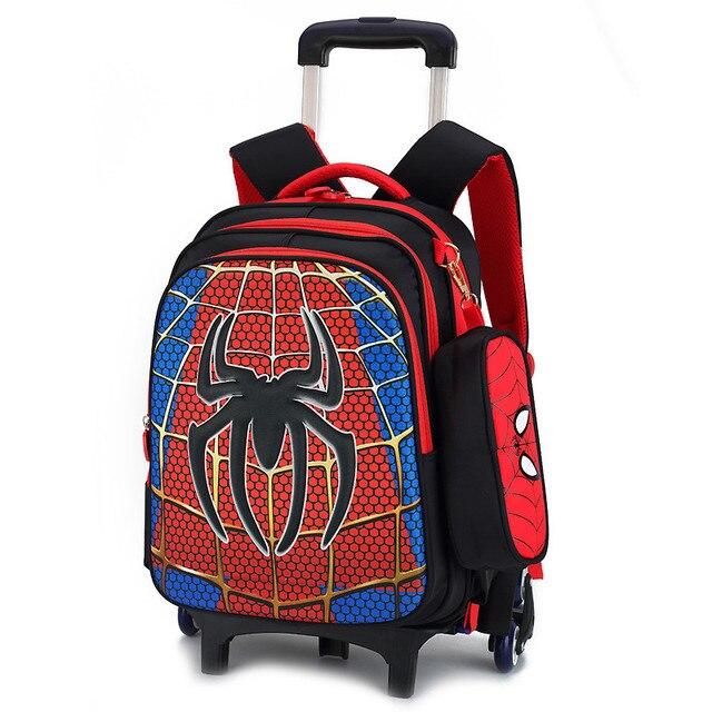 Children School Bags Kids Boys S Trolley Schoolbag Rolling Luggage Book Wheeled Backpack