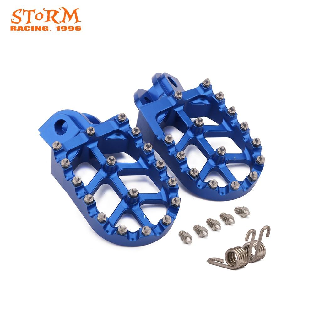 Foot Pegs FootRest Footpegs Pedals For HUSQVARNA TC65 TC85 TC125 FC250-FC450 TC250 TE FE 150-501 FS450