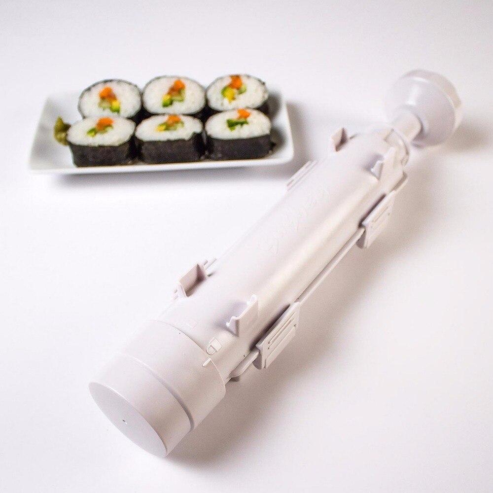 Устройство для приготовления суши роллов форма для роллов устройство для заворачивания суши Базука риса для мяса и овощей DIY для изготовлен...