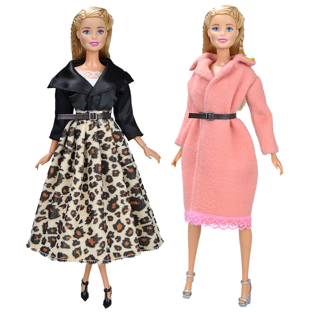 Fashion Long Dress For Barbie Doll Clothes Accessories Play House Dressing Up Costume Kids Girls Toys Gift