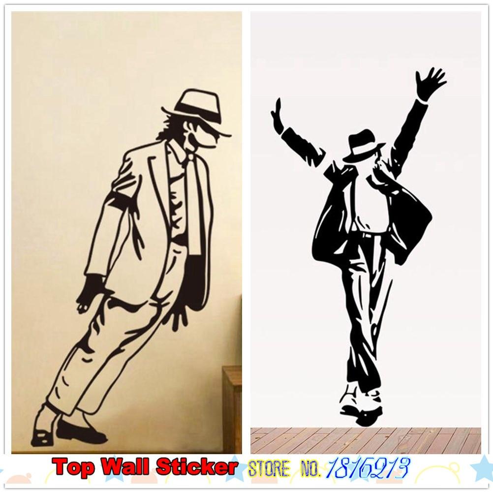 Hot Michael Jackson Poster Wall Sticker Boys Girls Fans -8640