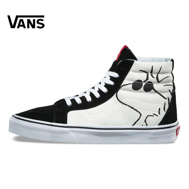 c82052acad Original New Arrival Vans X PEANUTS Men s   Women s Classic SK8-Hi  Skateboarding Shoes Sneakers