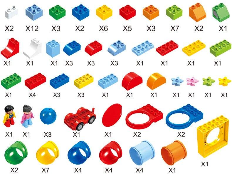 Designer Kreative Klassische kinder Große Partikel 130 Spielzeug Bausteine Pädagogisches Spielzeug Modell kinder Geschenke