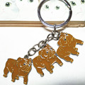 Belldog key chain fashion metal keychain friend birthday gift pet dog women gift wholesale