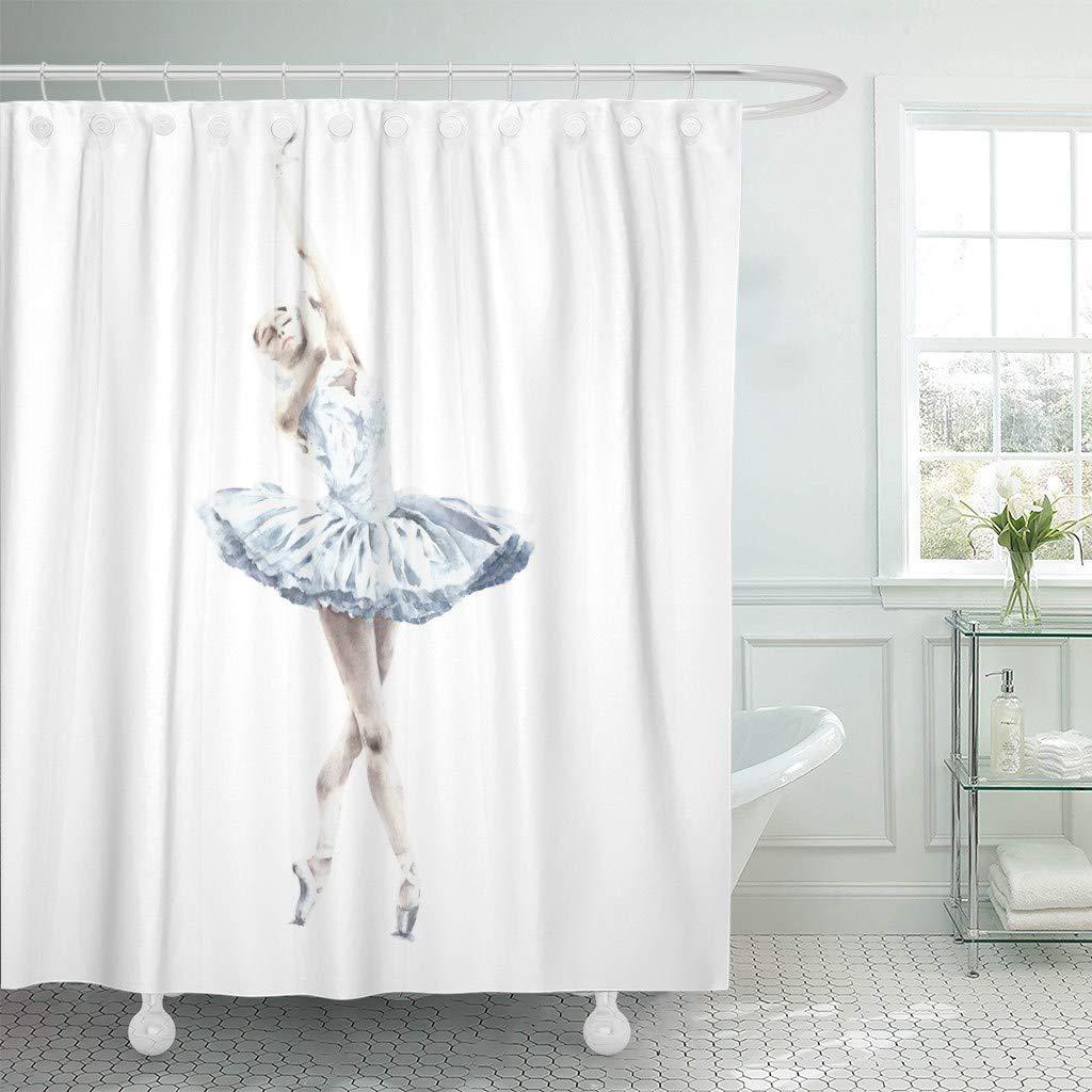 Watercolor Hippie Camper Van Car Shower Curtain Set Bathroom Waterproof Fabric