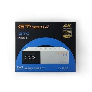 Image 2 - Gtmedia receptor de TV satelital GTC, con WIFI integrado, compatible con DVB S2, DVB T2, DVB T, Android TV Box