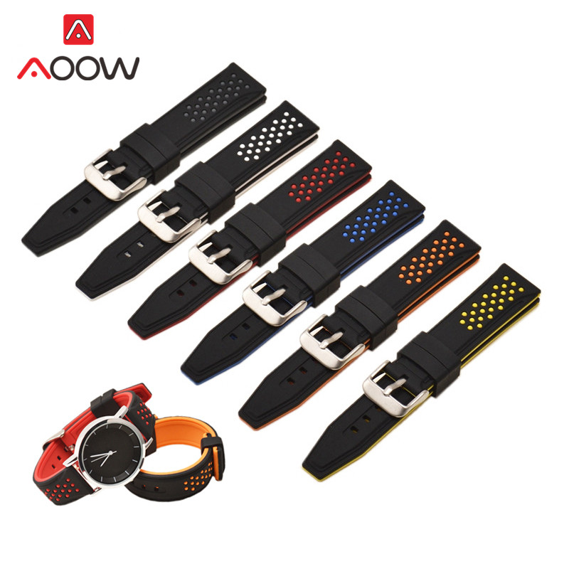 Silicone Watchband for Samsung Gear S2 S3 Huami Amazfit 20mm 22mm 24mm 26mm Quick Release Rubber Sport Bracelet Watch Band StrapSilicone Watchband for Samsung Gear S2 S3 Huami Amazfit 20mm 22mm 24mm 26mm Quick Release Rubber Sport Bracelet Watch Band Strap