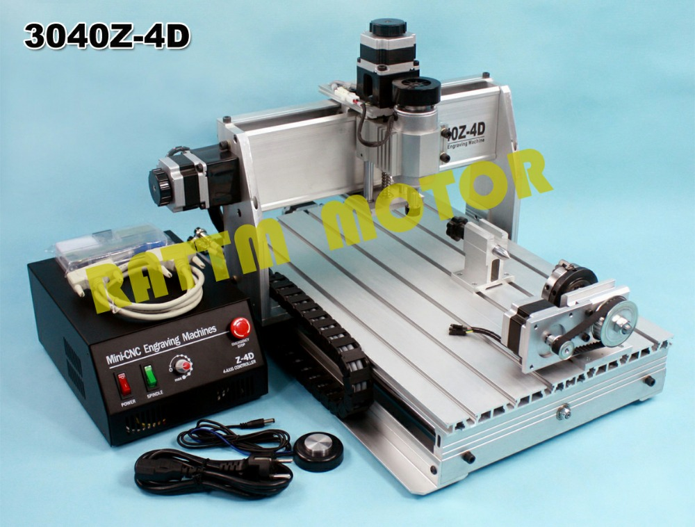 USB port 4 axis 3040 300W CNC Router engraver engraving milling machine desktop cavring machine cnc 5axis a aixs rotary axis t chuck type for cnc router cnc milling machine best quality