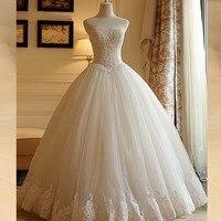 Халат de Marriage без бретелек кружево бальное платье Пышная юбка Тюль Свадебная вечеринка индивидуальный заказ