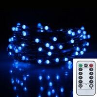 33FT 10 M 100LED 8 Modes Batterie Exploité Lumière Chaîne de Led Chrismas Extérieur Guirlande lumineuse Fête de Mariage Décoration De La Maison Guirlande